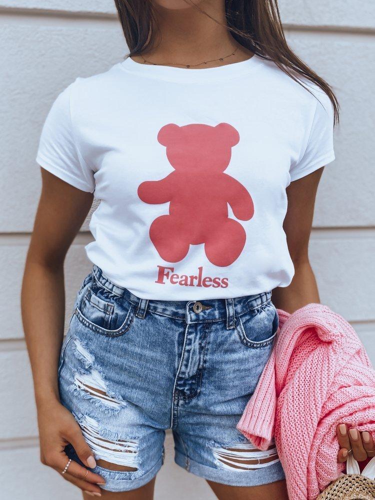 T-shirt damski FEARLESS biały RY1472