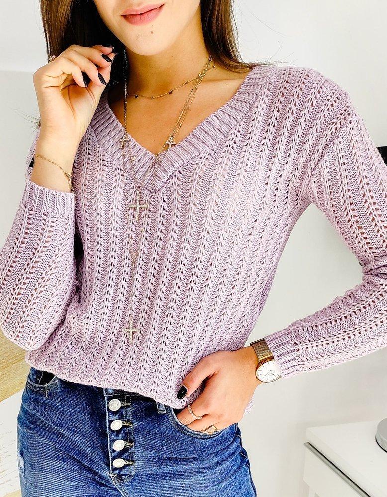 Sweter damski SHALOW liliowy MY0748