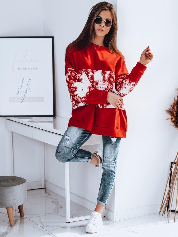 Bluza damska oversize ELESIS czerwona Dstreet BY0865