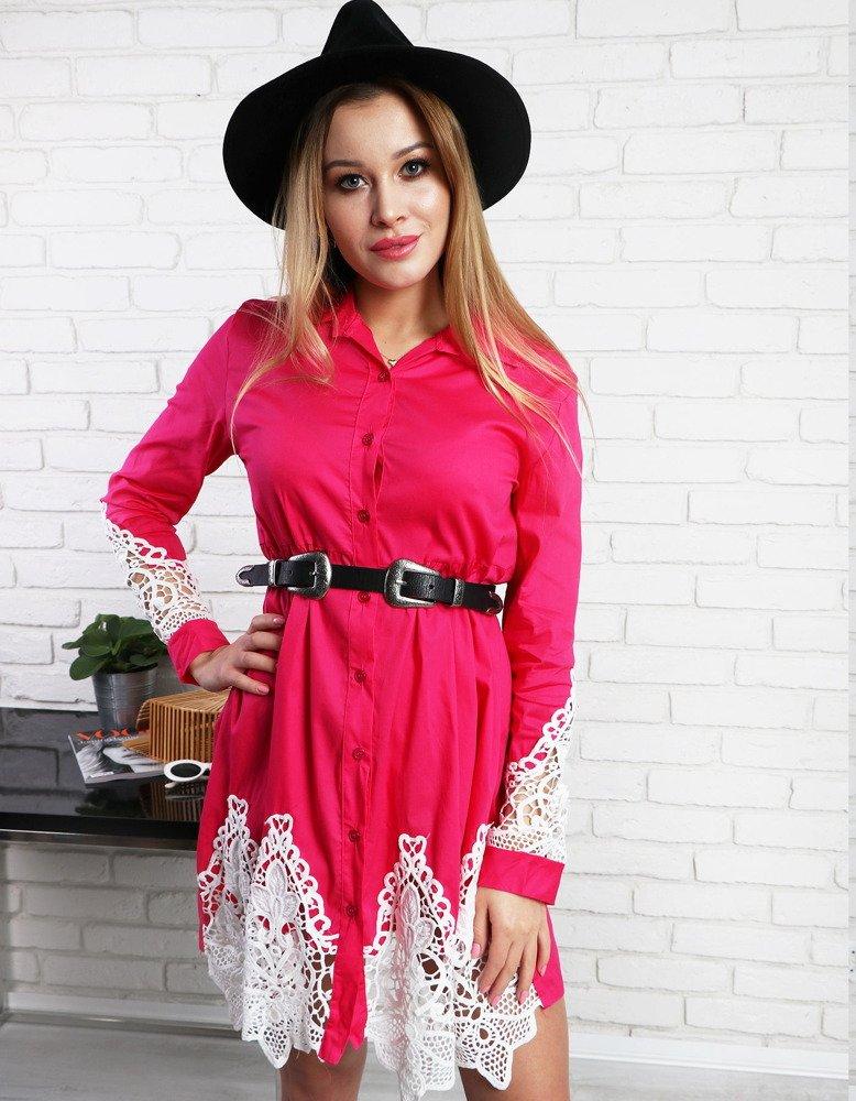 Ružové dámske šaty PAULA (ey0740)