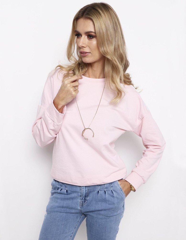 Bluza damska NEON pastelowy róż BY0181