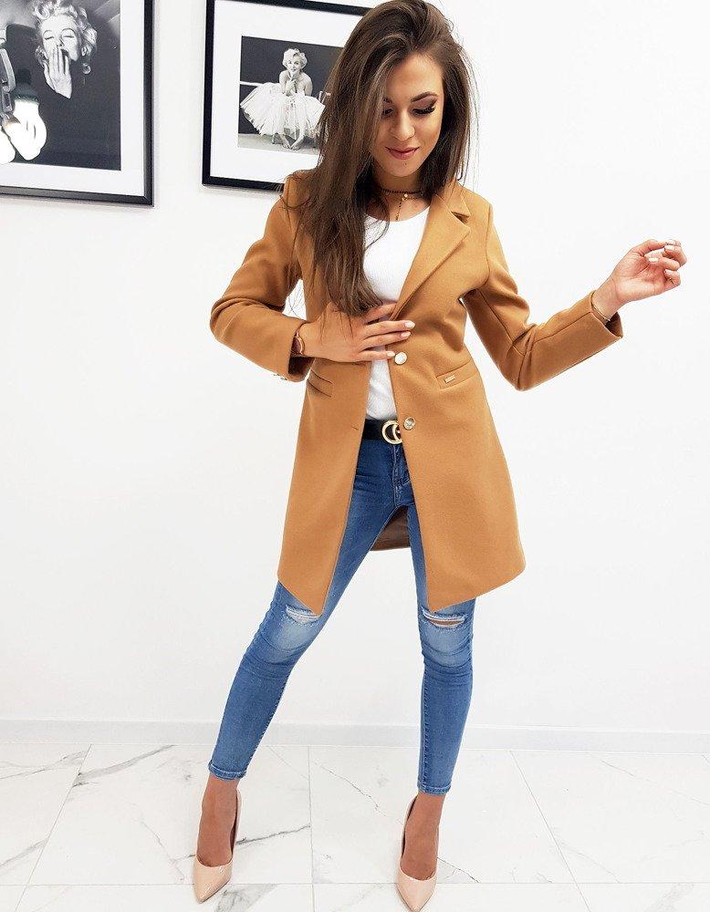 Dámsky kabát karamelový