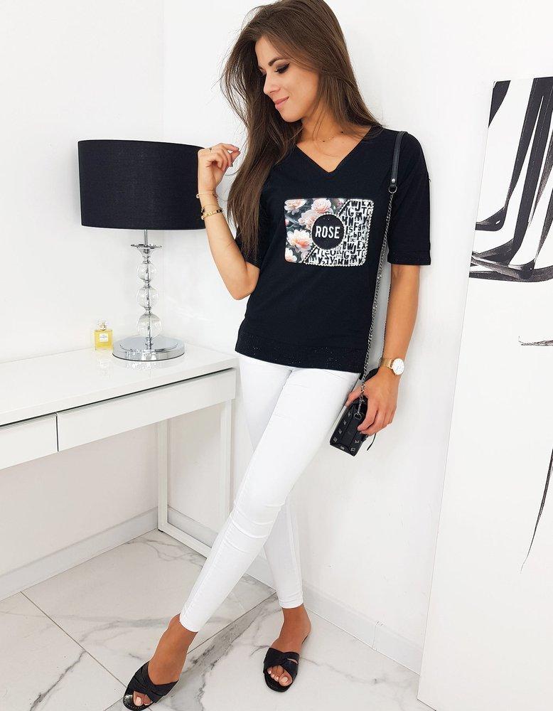 Bluzka damska ROSE czarna RY1329