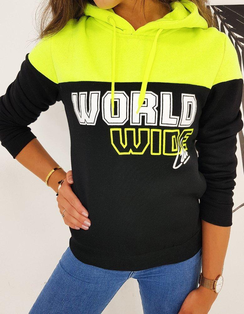 Bluza damska WORLD czarna BY0509