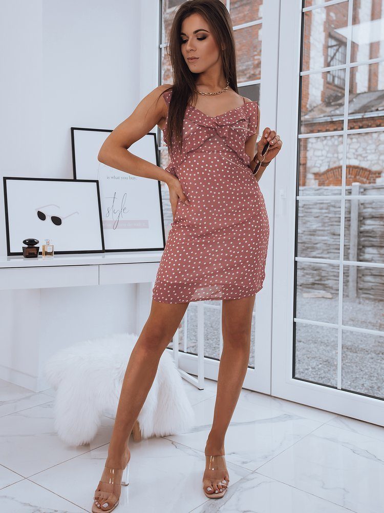 Sukienka LEILA różowa Dstreet EY1537