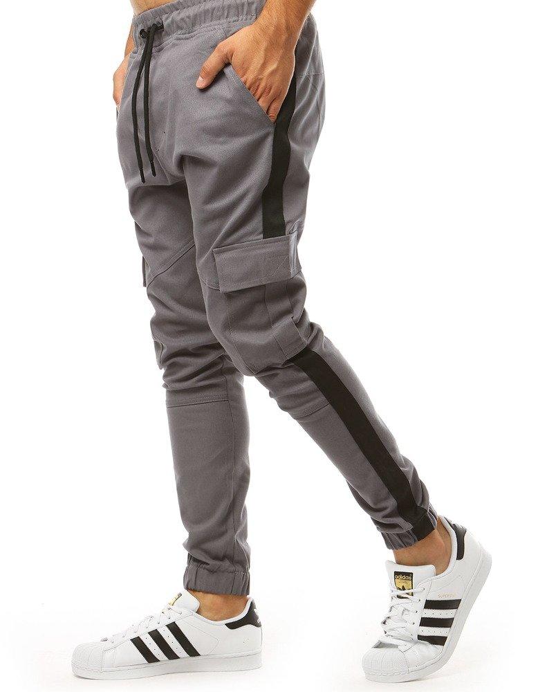Pánske šedé jogger tepláky (ux1999)