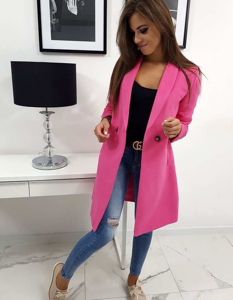 Jedinečný ružový dámsky kabát TRINI (ny0223)