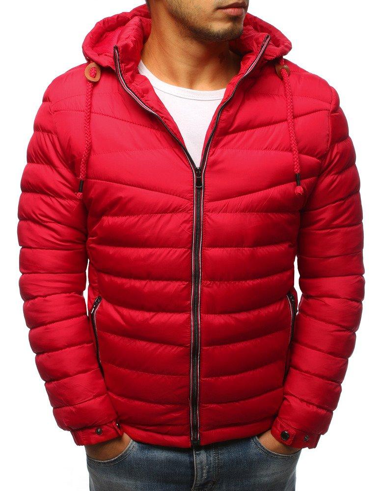 Červená pánska zimná bunda (tx2388)