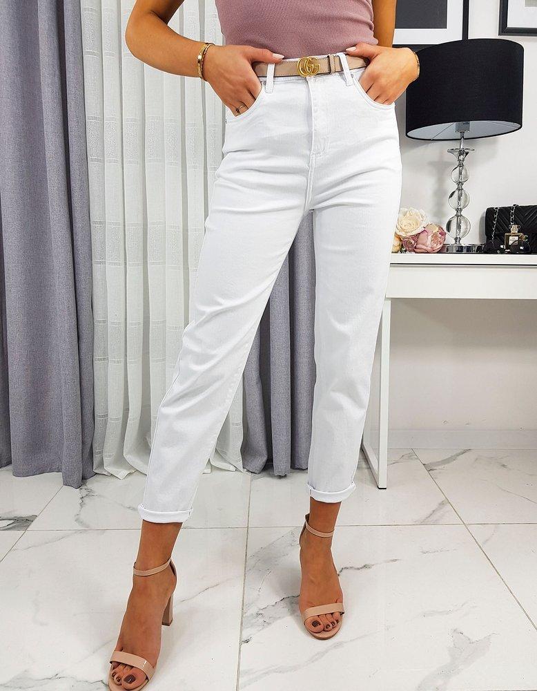 Spodnie damskie jeansowe białe UY0222