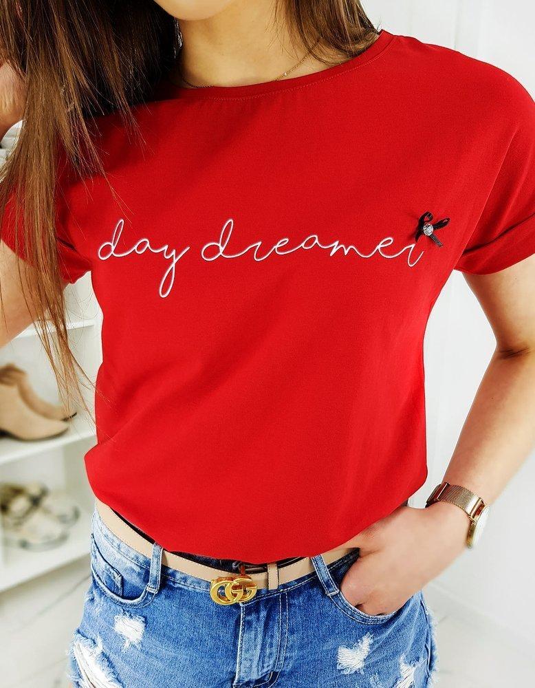 T-shirt damski DAY DREAMER czerwony RY1267