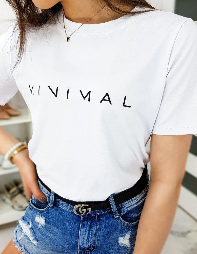 T-shirt damski MINIMAL biały RY1298