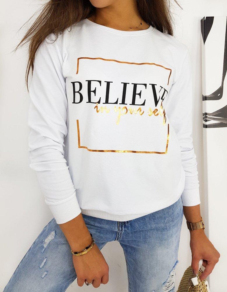 Bluza damska BELIEVE biała BY0519