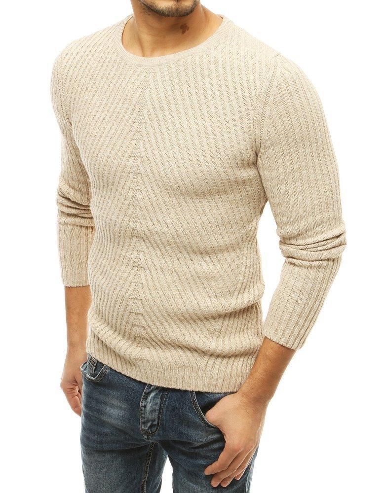 Pánsky svetlo-béžový sveter.