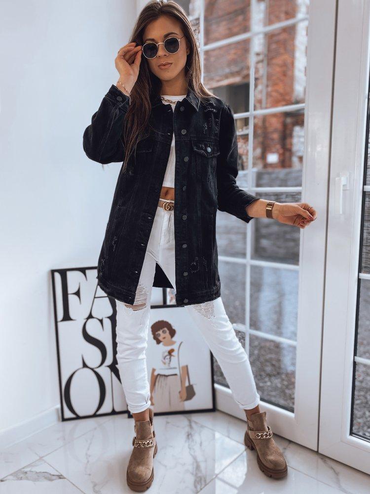 Kurtka damska jeansowa DERRO czarna TY1710