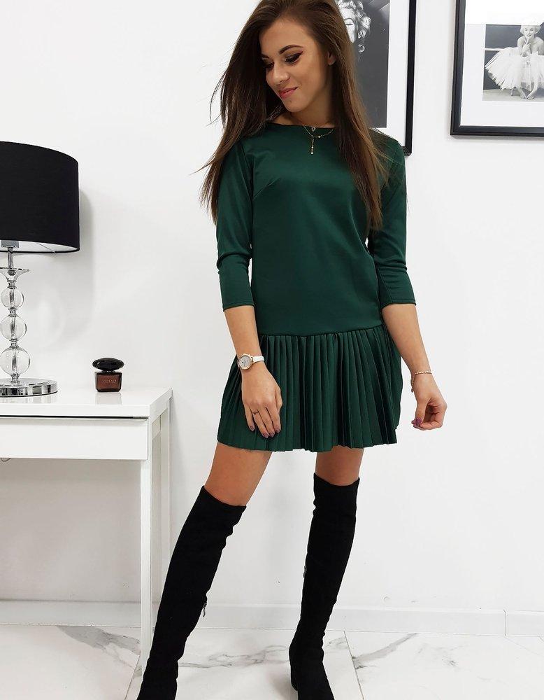 Šaty s plisovaným zelené