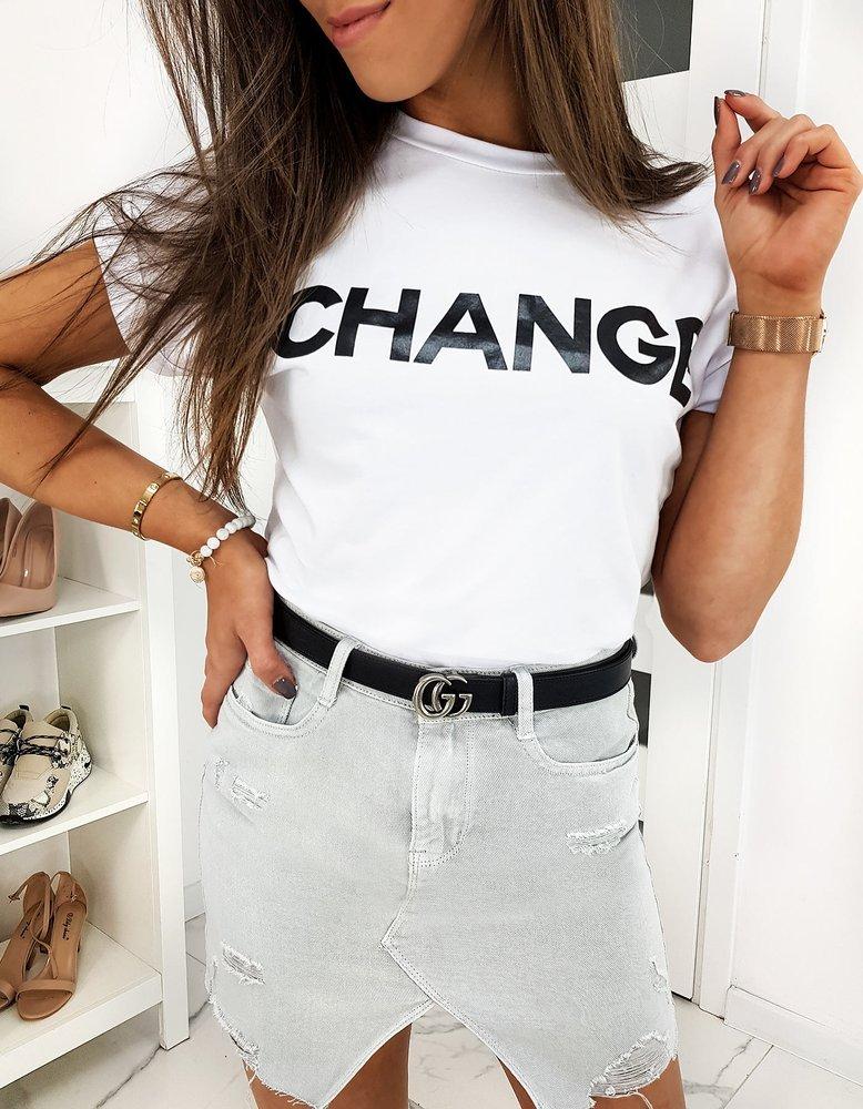 T-shirt damski CHANGE biały RY1375