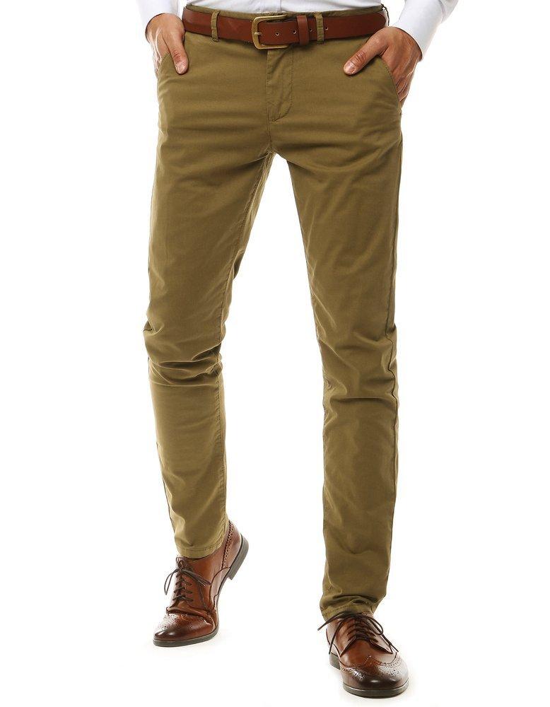 Pánske nohavice chinos vo farbe camel UX2578