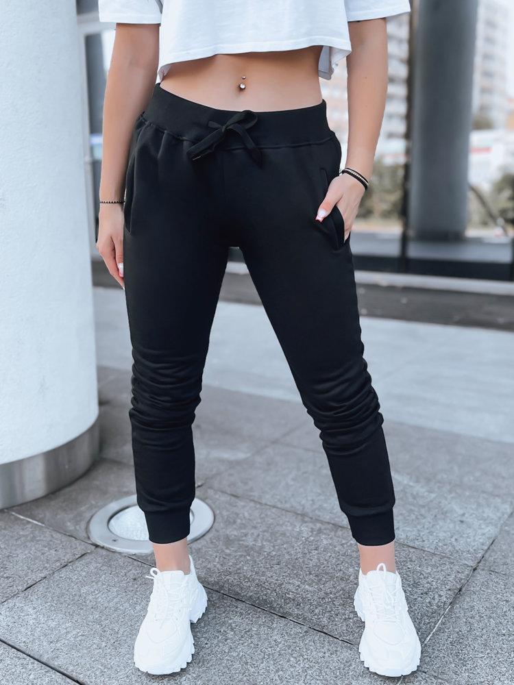 Spodnie damskie dresowe FITS czarne UY0135