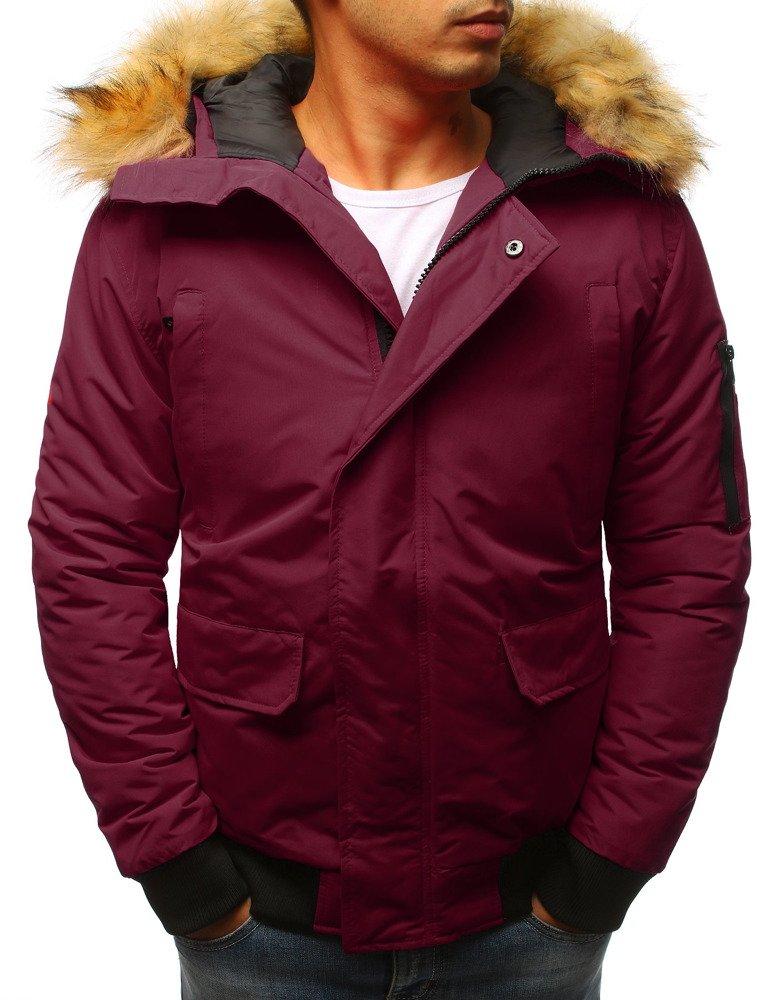 Bordová pánska bunda na zimu (tx2350)