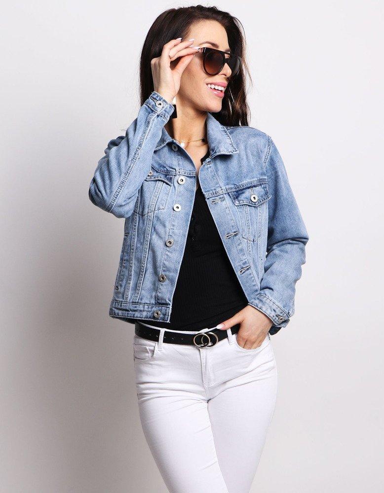 Kurtka damska jeansowa NELLA niebieska (ty0615)