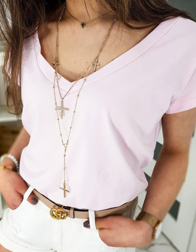 T-shirt damski LOLI różowy RY1352