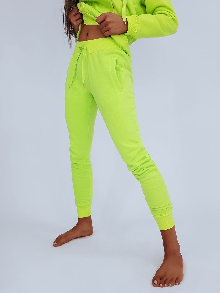 Spodnie damskie dresowe FITS zielone UY0586