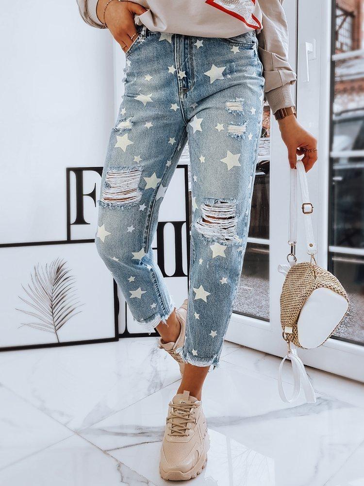 Spodnie damskie jeansowe STARS niebieskie UY0725