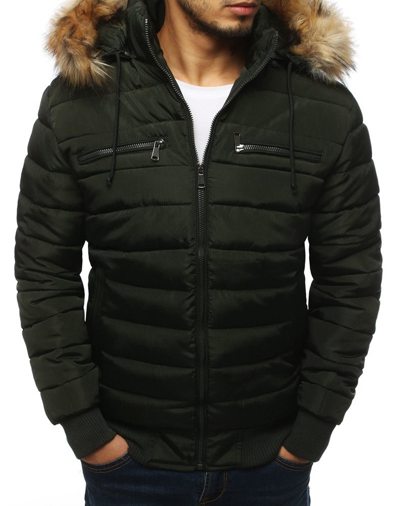 Štýlová pánska khaki bunda (tx3025)