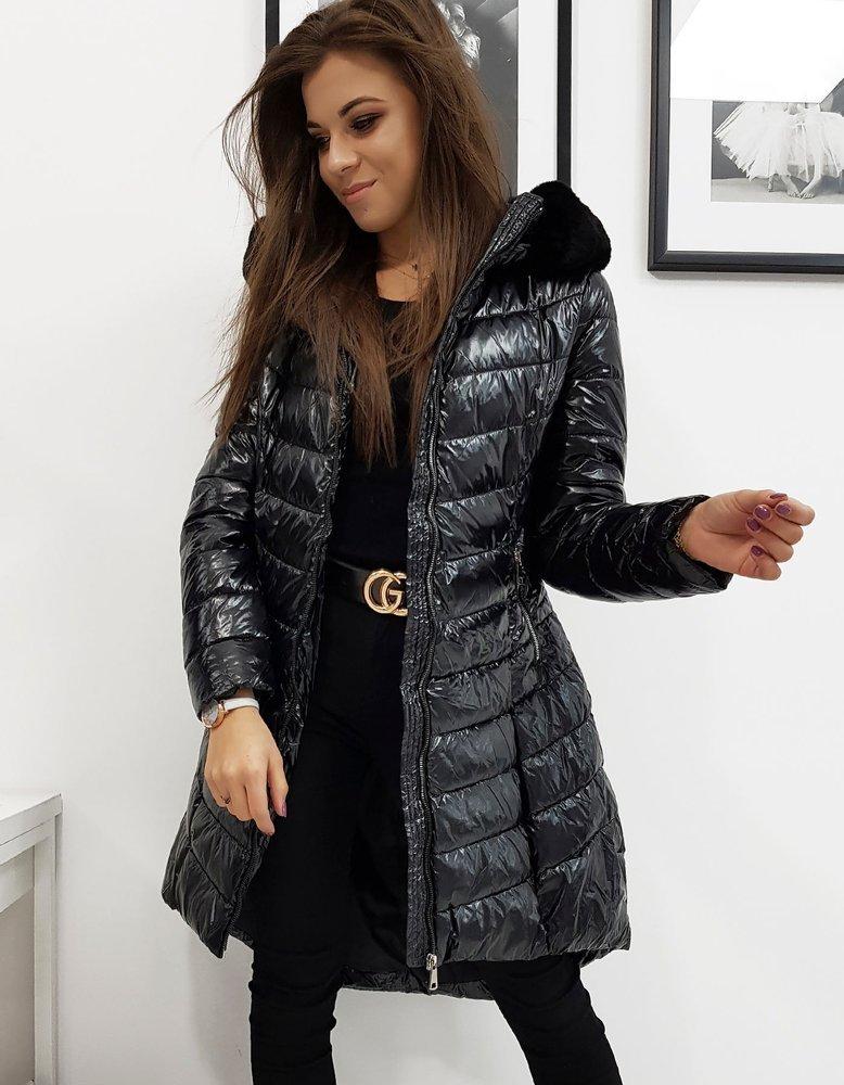 Dámska zimná prešívaná bunda čierna