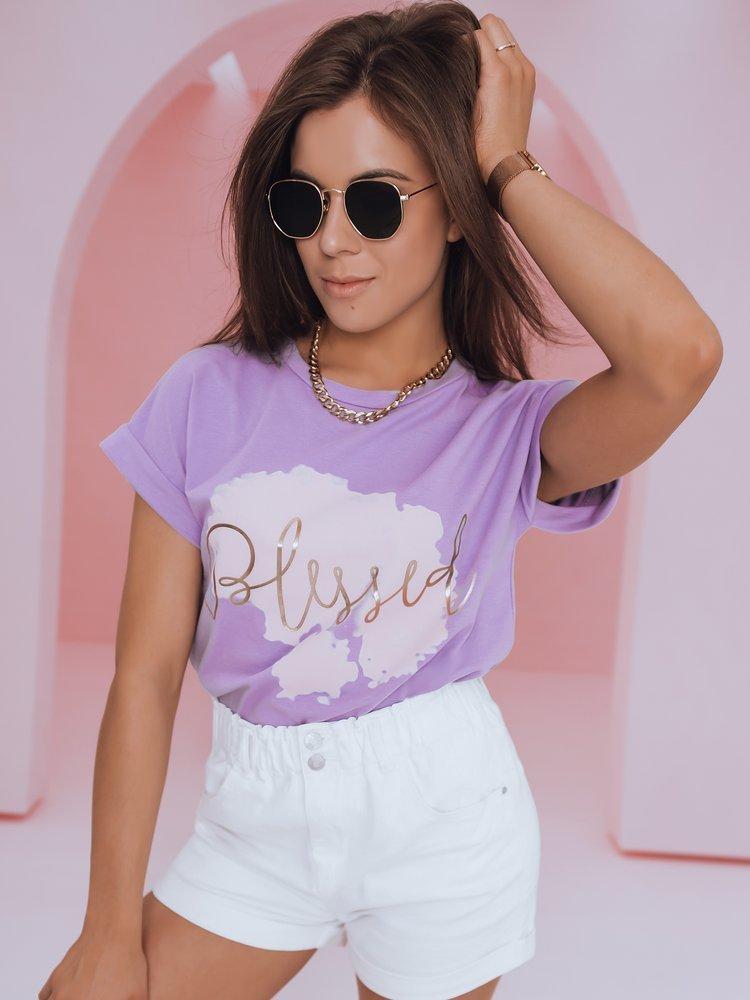 T-shirt damski BLESSED lila RY1411