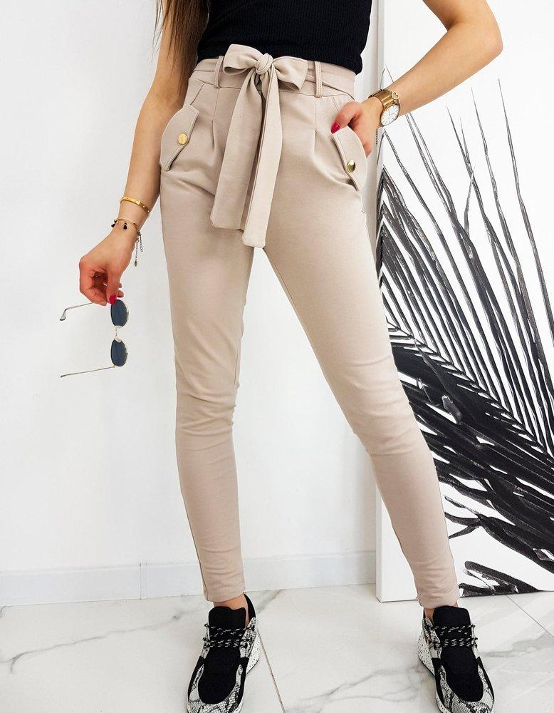 Spodnie damskie IVET beżowe UY0522