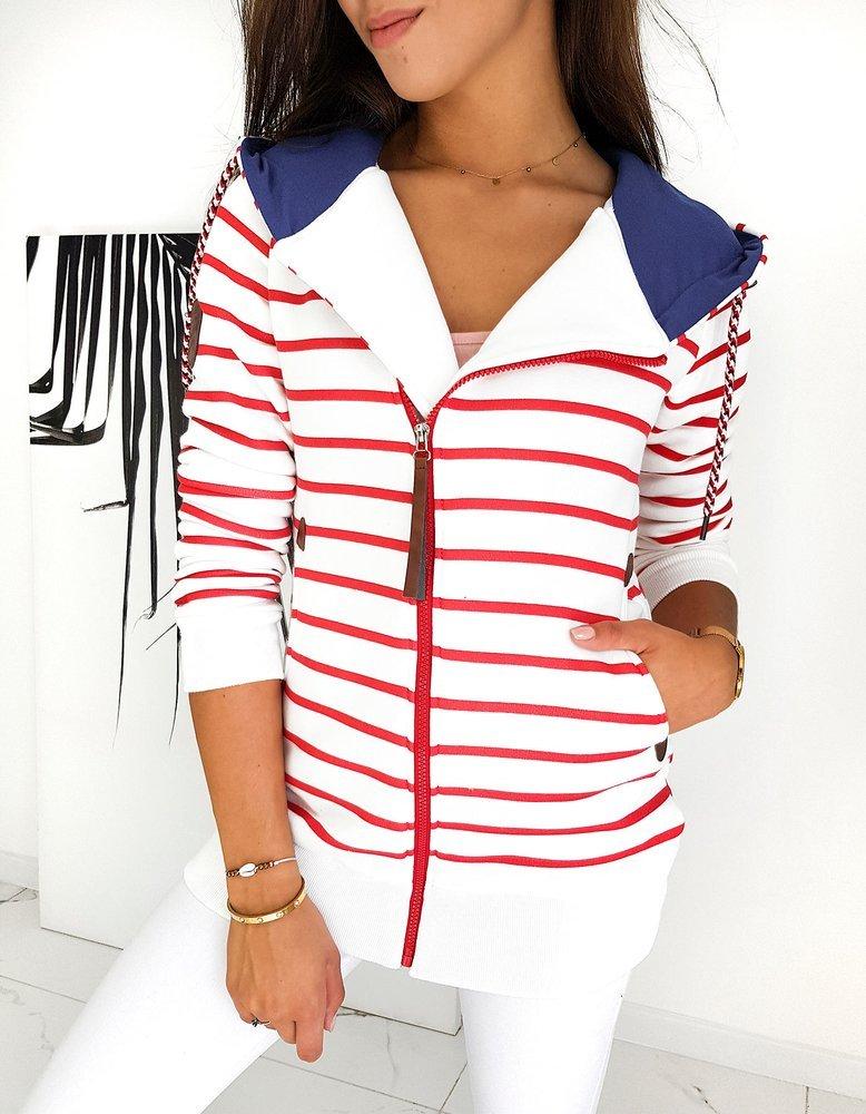 Bluza damska LONG MARINE biała BY0597