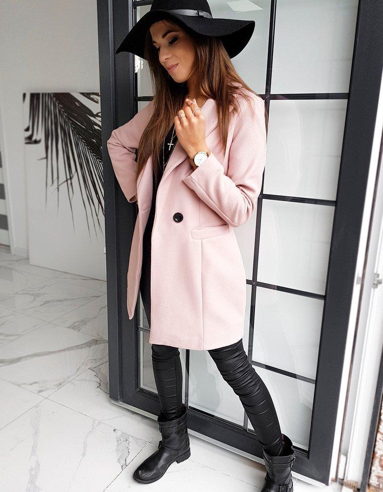 Płaszcz damski SANLORINI różowy NY0347