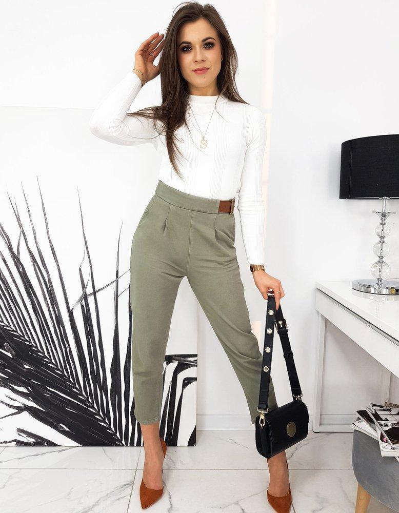 Spodnie damskie FRANCIE khaki UY0695