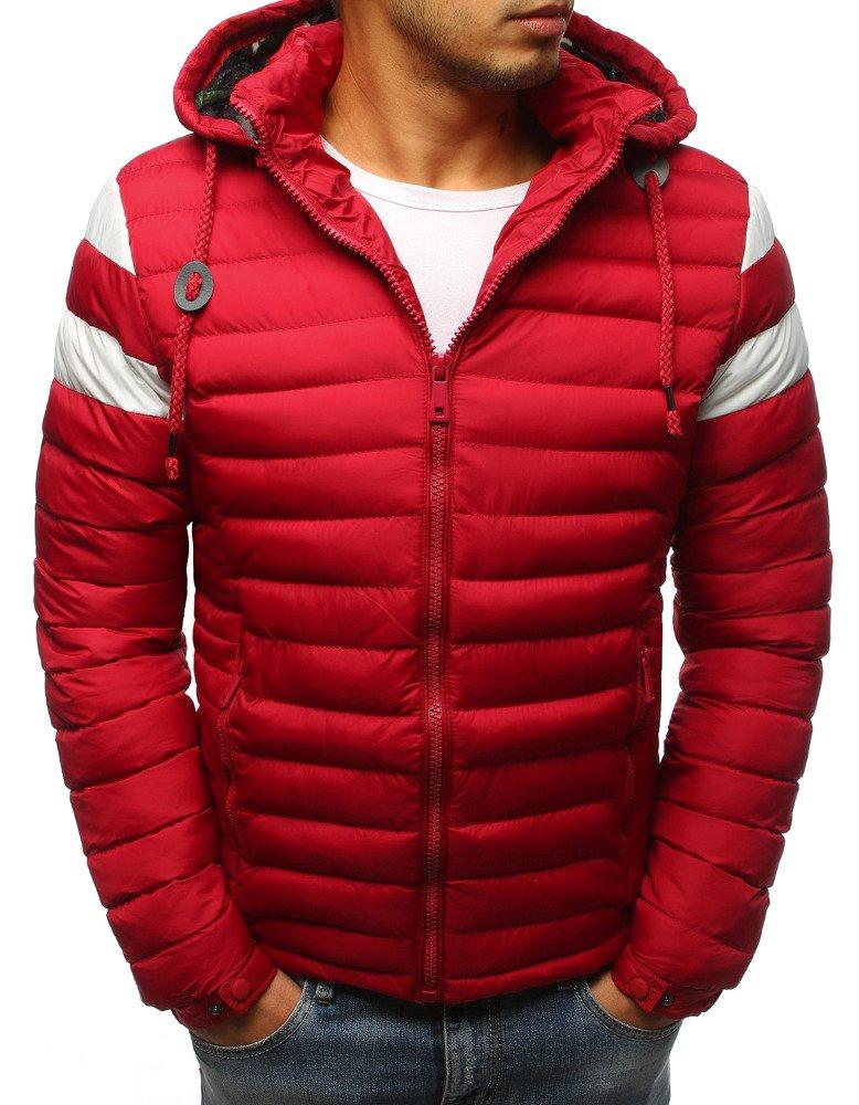 Červená pánska bunda na zimu (tx2400)