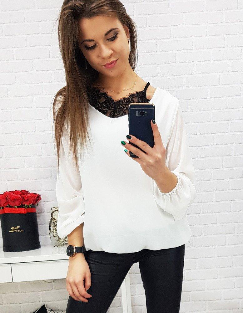 Biała bluzka damska BREEZE (ry0579)