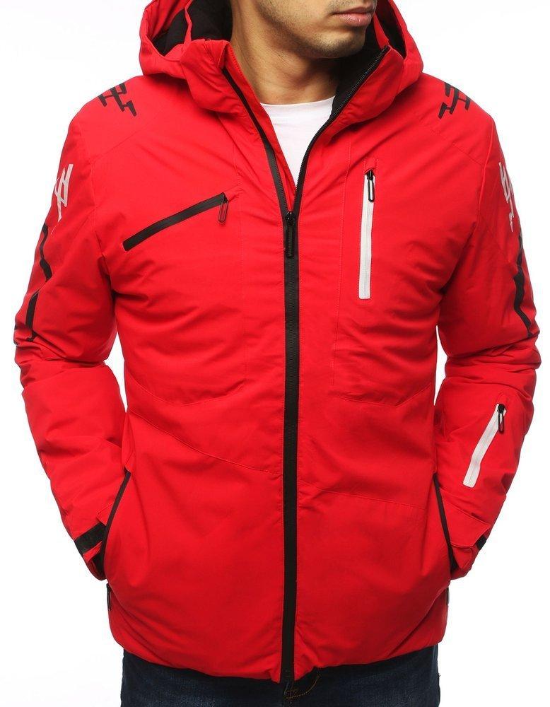 Pánska červená lyžiarska bunda (tx3120)