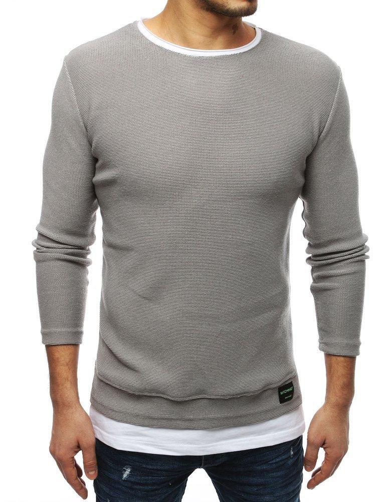 Pánsky pulóver svetlo šedý