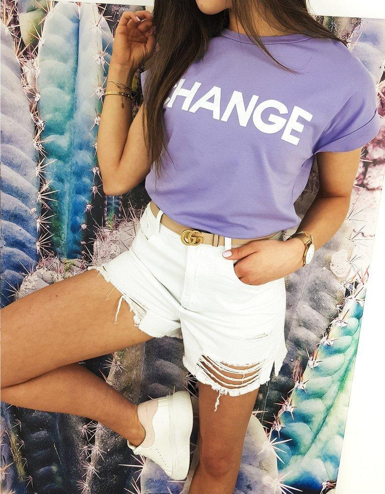 T-shirt damski CHANGE wrzosowy RY1549