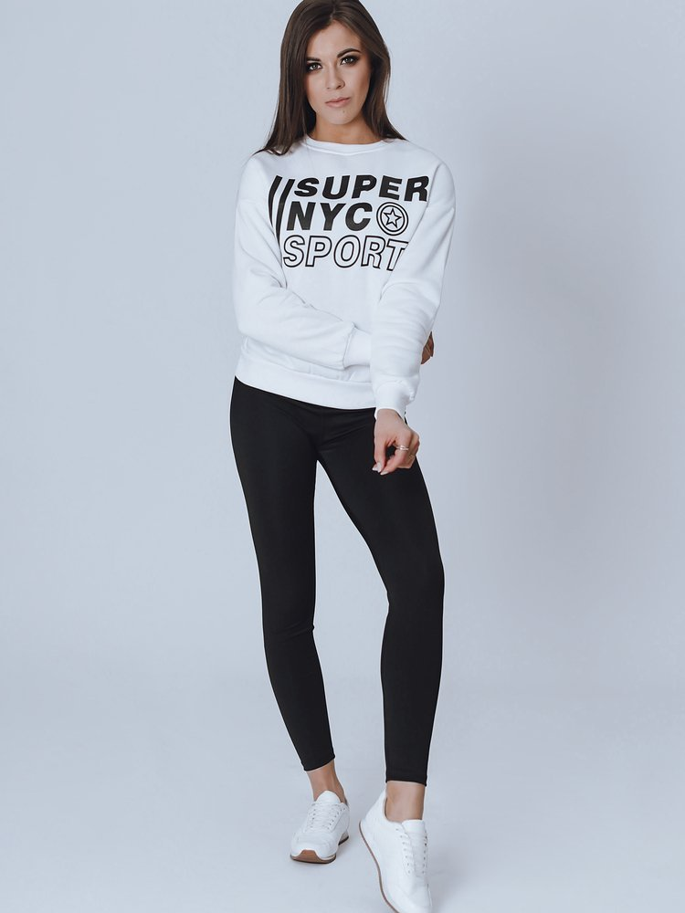 Bluza damska NYC biała BY0821