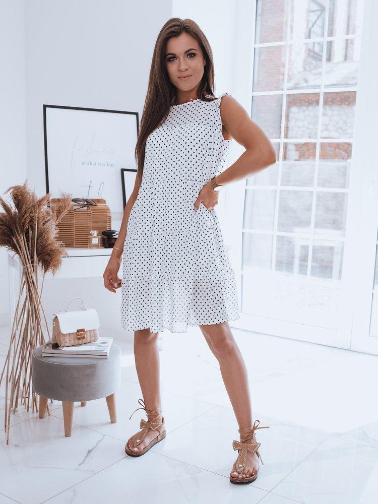 Sukienka w grochy DELI biała Dstreet EY1715
