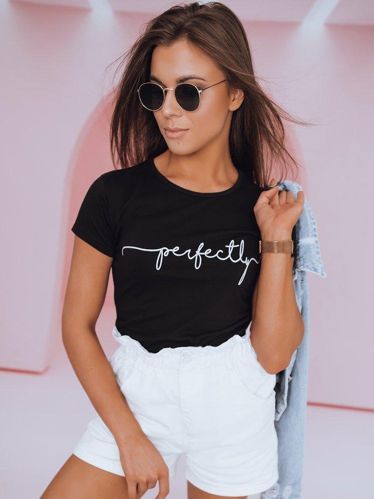 T-shirt damski PERFECTLY czarny Dstreet RY1801