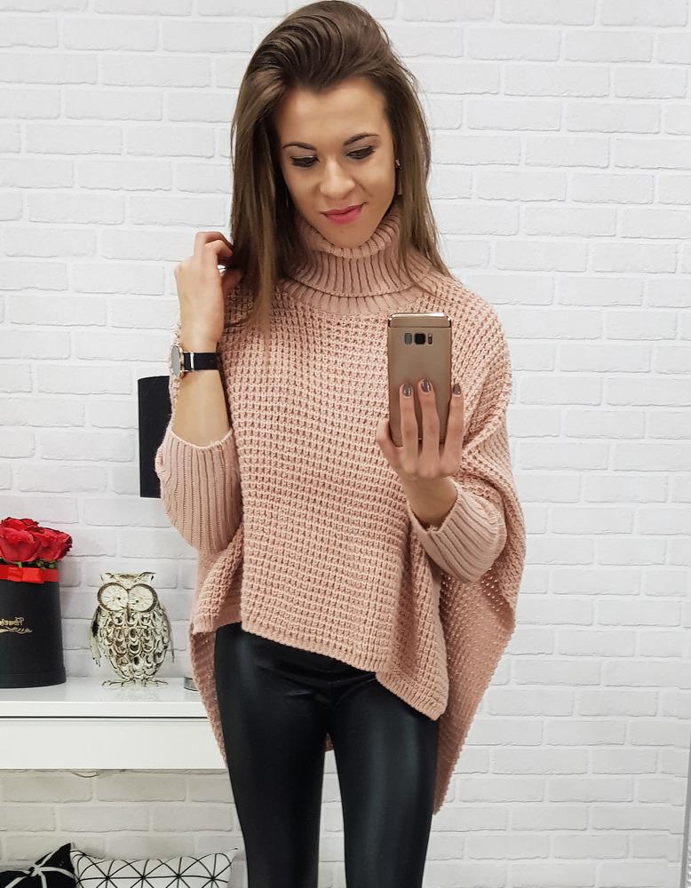 Ružový dámsky sveter (my0520)
