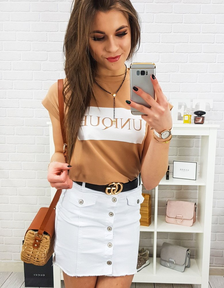 Spódnica biała CY0182