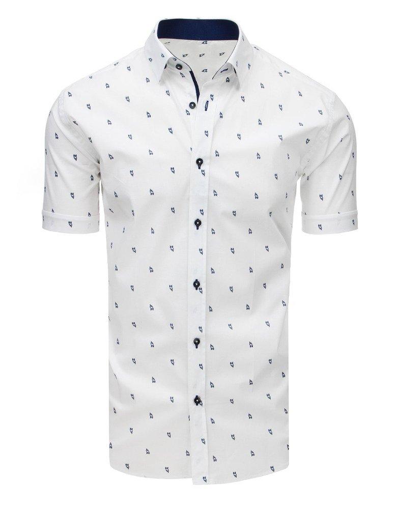 Pánska košeľa so vzorom biela