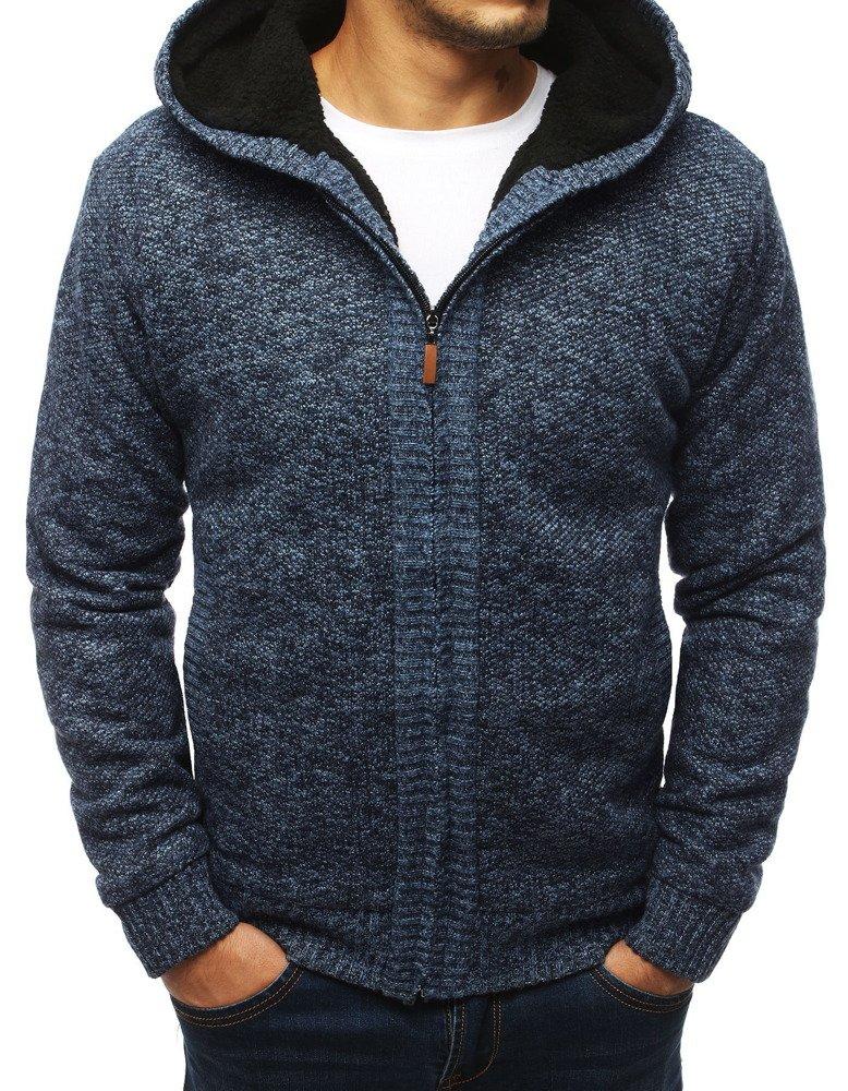 Oteplení pánsky  sveter modrý