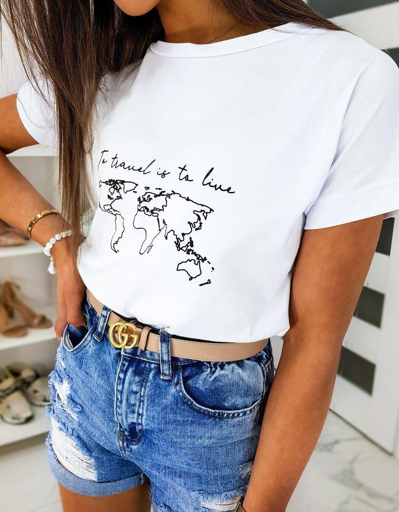 T-shirt damski TRAVEL biały RY1279