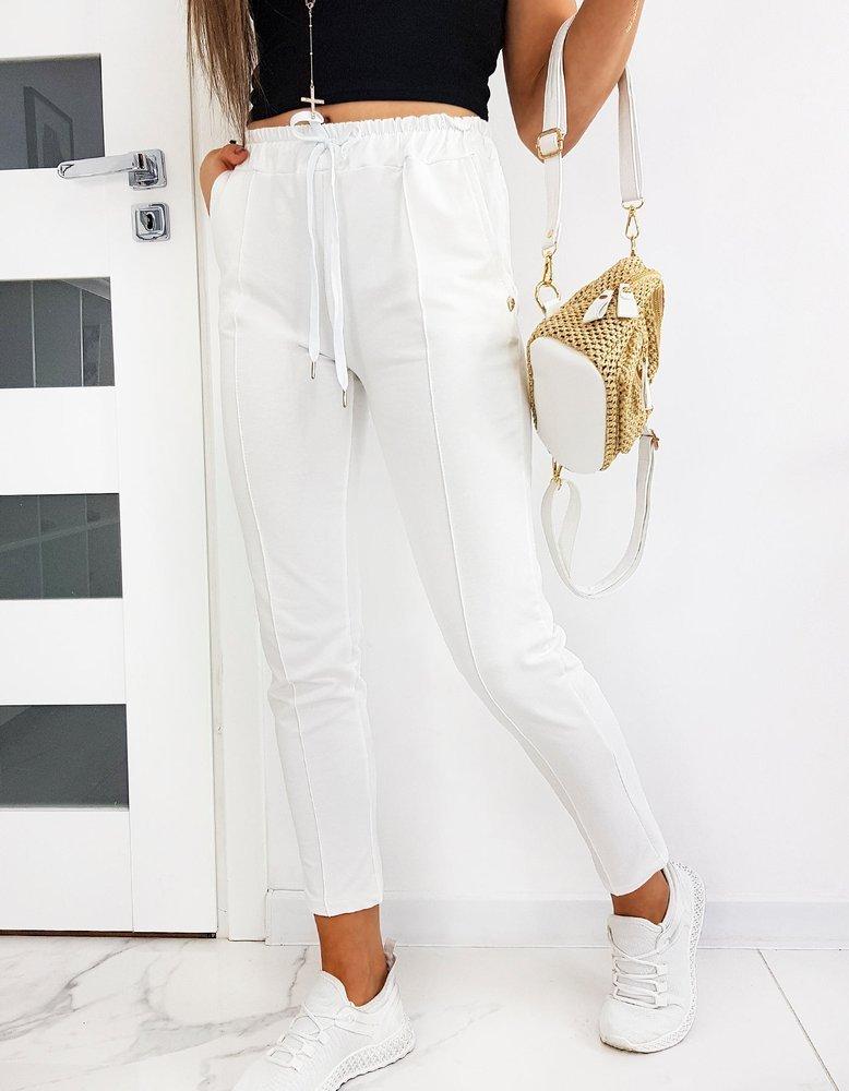 Spodnie damskie MISTIC białe UY0514