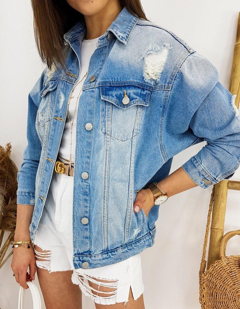 Dámska džínsová modrá bunda MACKEY TY1259