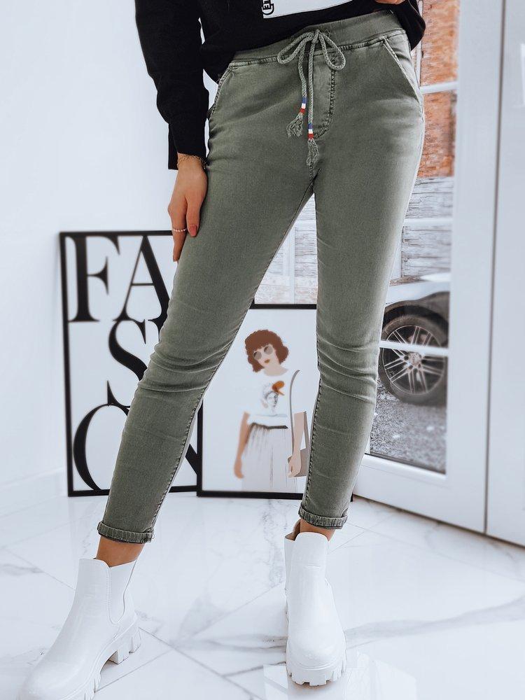 Spodnie damskie VICKY oliwkowe Dstreet UY0738